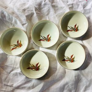 Vintage Japanese Cranes Appetizer Side Dishes